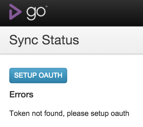 Figure 4: Setup standby GoCD Server - OAuth Token